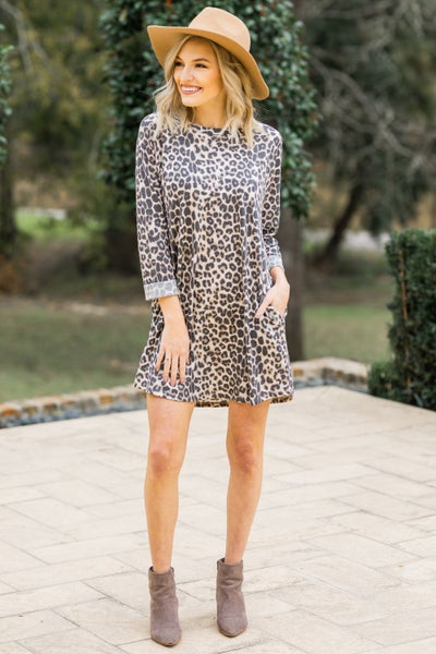 Guess Again Leopard Dress