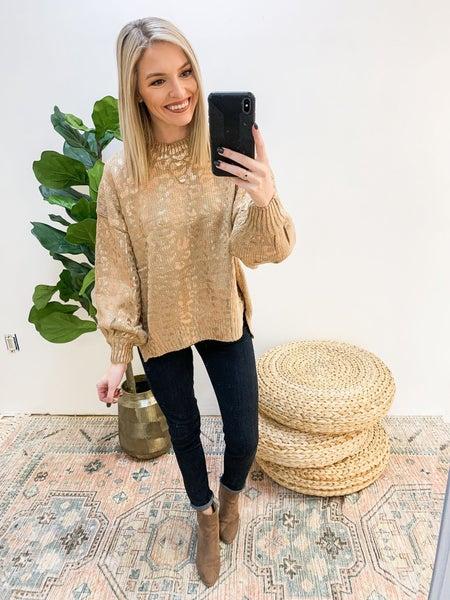Shine On Leopard Sweater