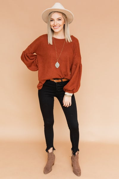 Bubbled Down Sweater