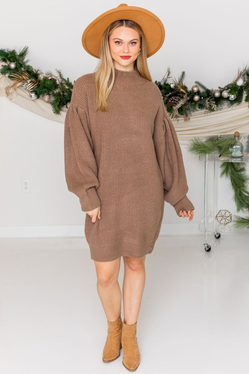 Warming Up Sweater Dress