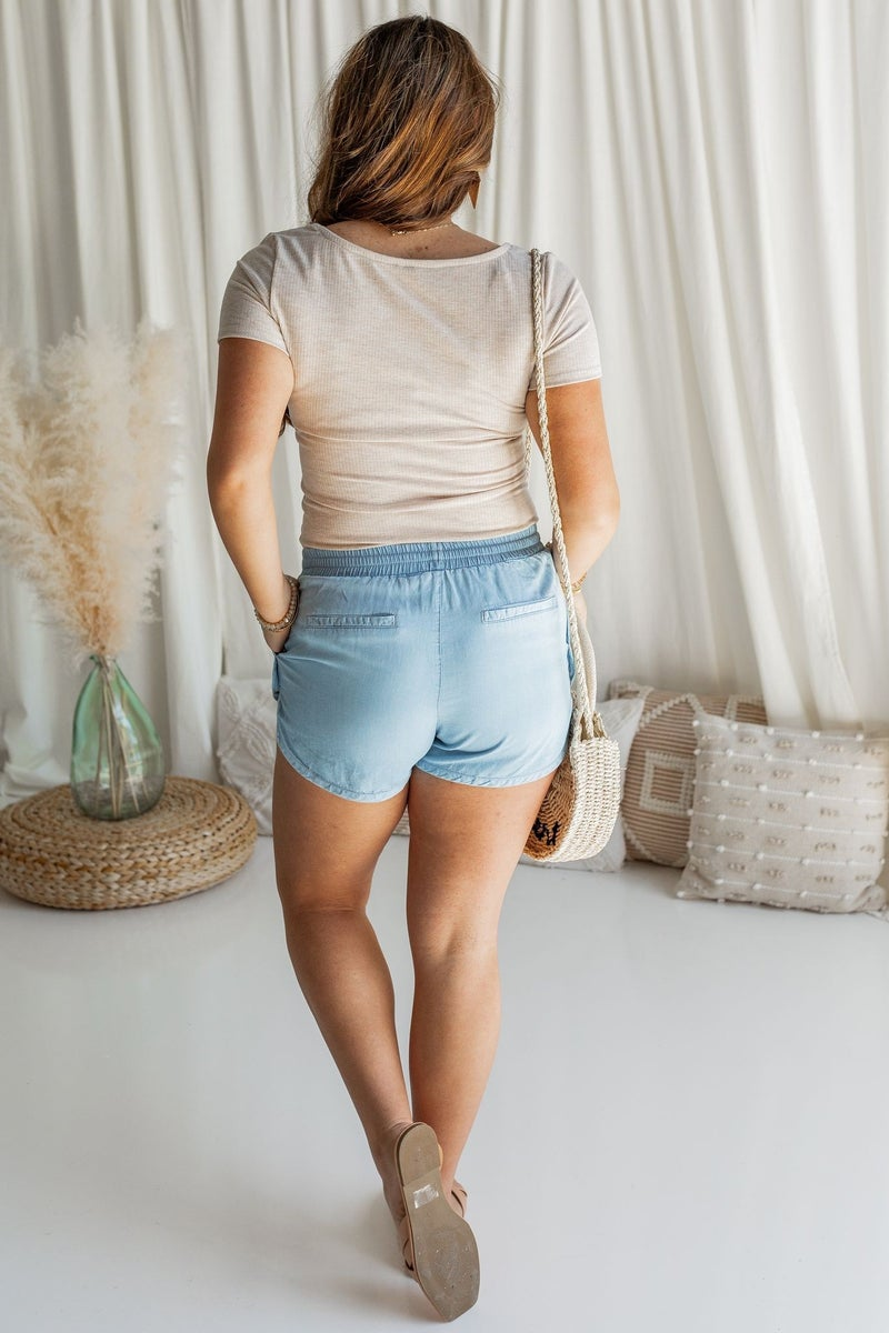 Go to Town Tencel Shorts