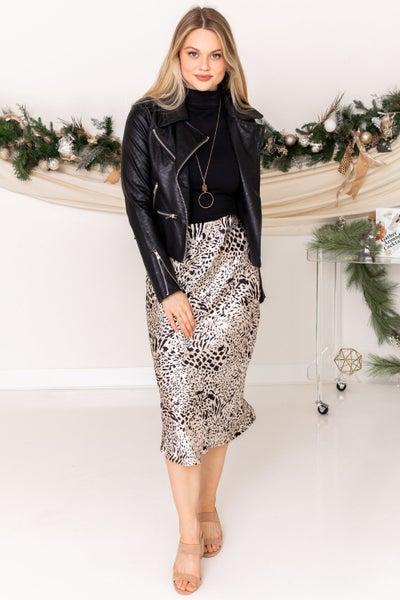 Animal Lover Midi Skirt