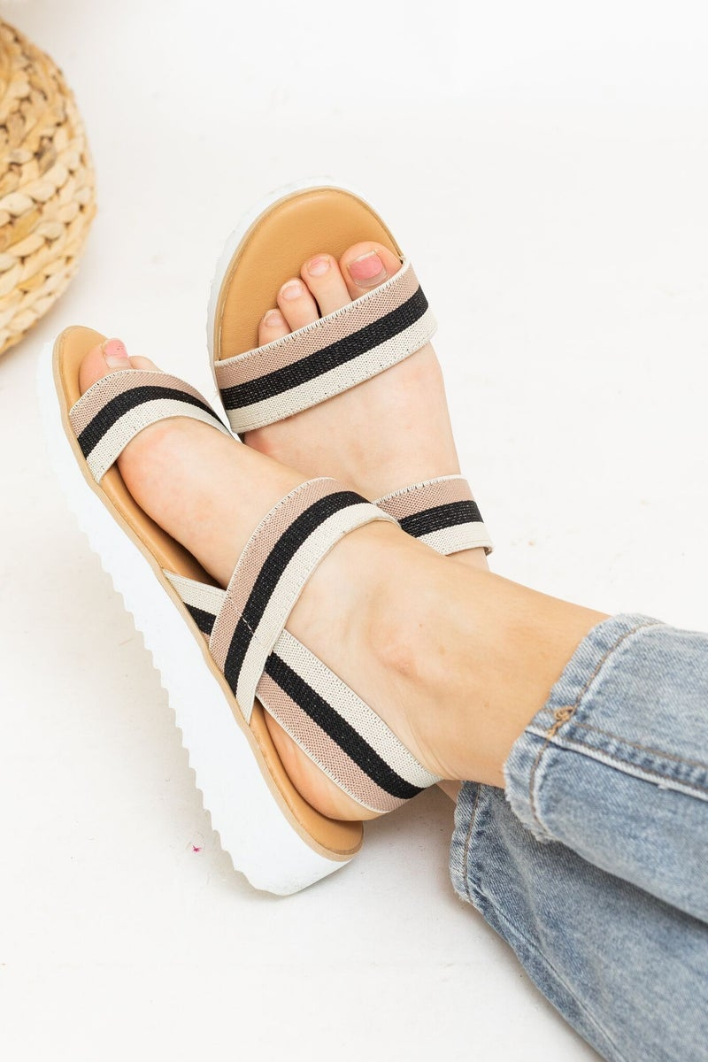Strapped For Spring Sandal *Final Sale*
