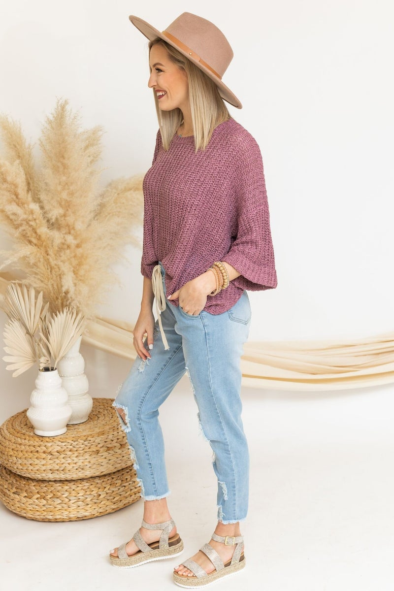 Away With Knit Top