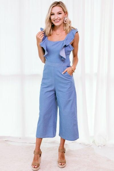 Dressed in Denim Jumpsuit