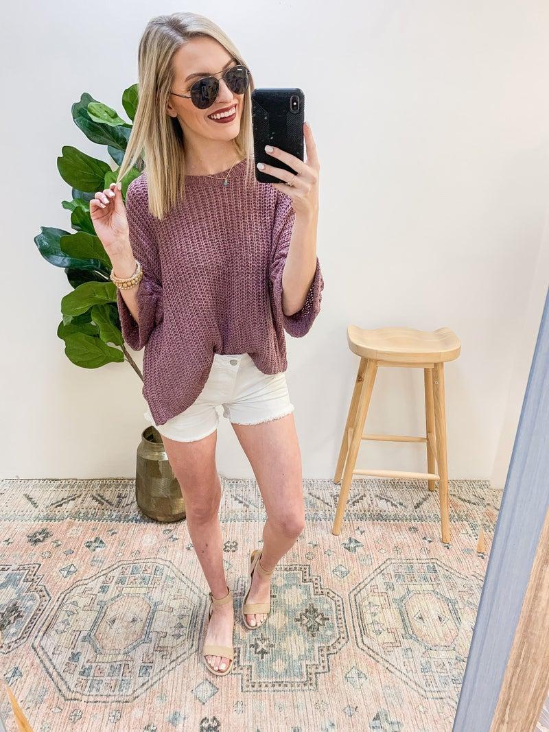 Denim on Denim Shorts in White