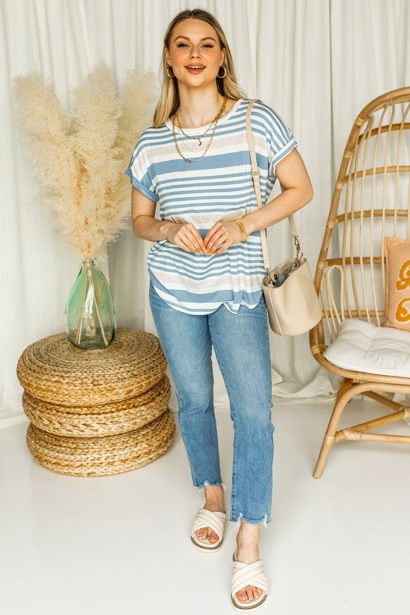 Striped to the Sea Top
