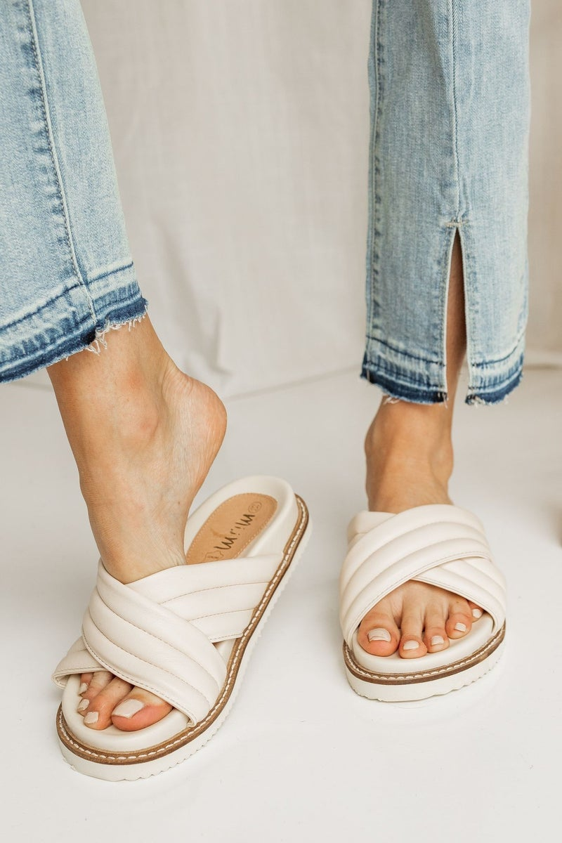 Slide into the Season Sandals