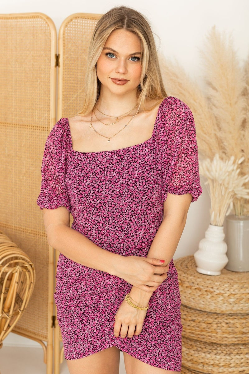 Pink Poppies Dress