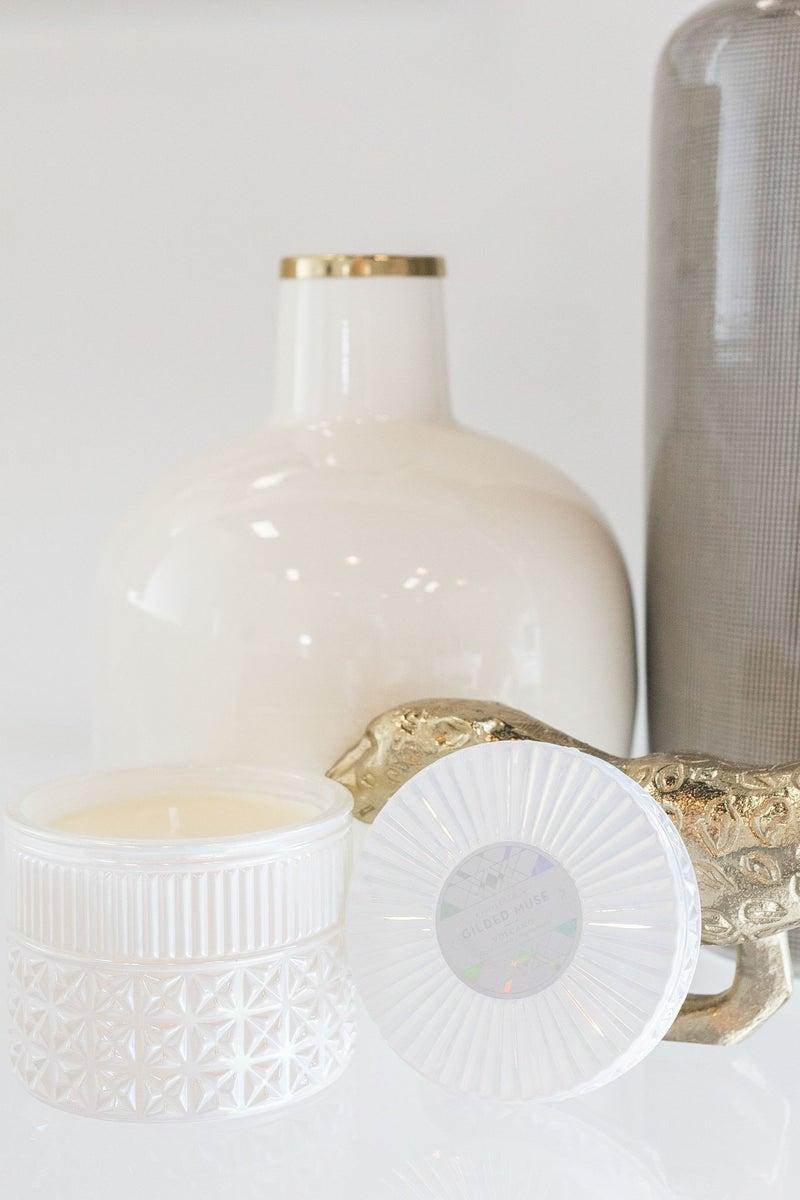 Volcano Gilded Faceted Jar *Final Sale*