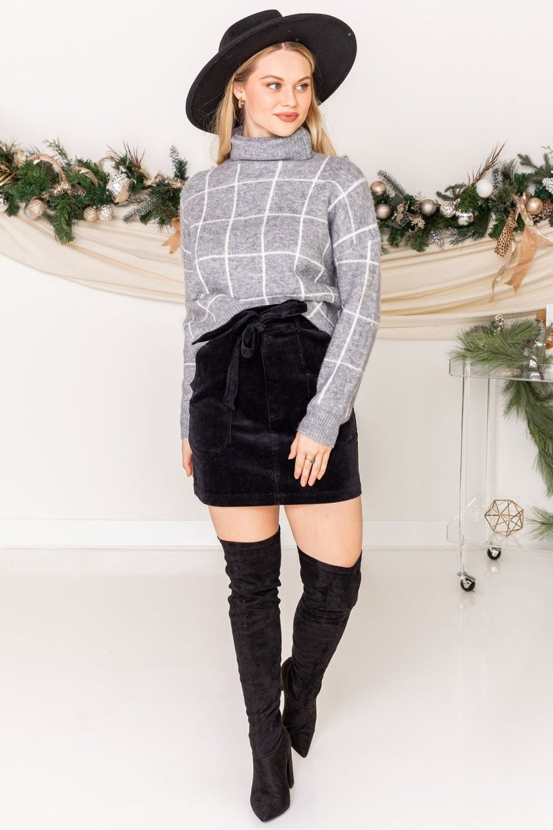 Season Greetings Corduroy Skirt