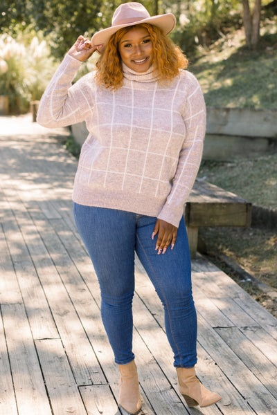 Line in the Sand Sweater in Oatmeal