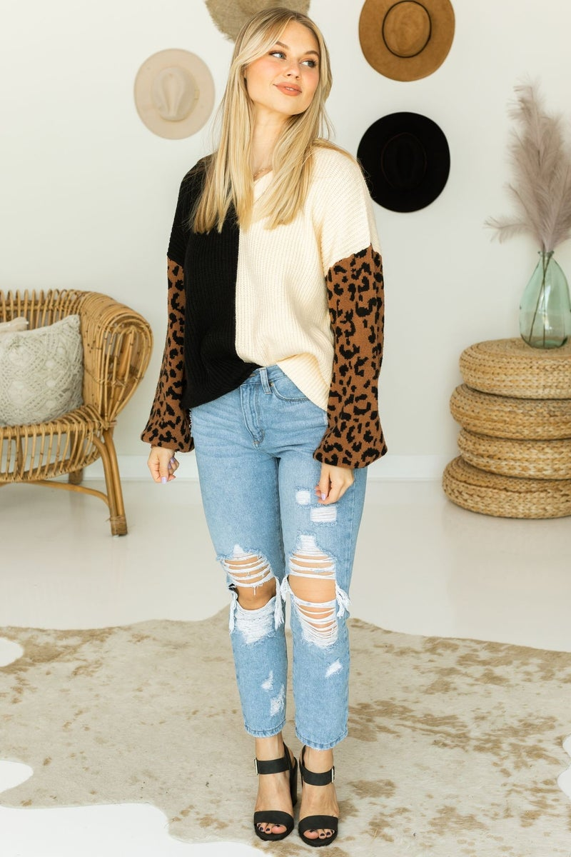 Pull in the Prints Sweater