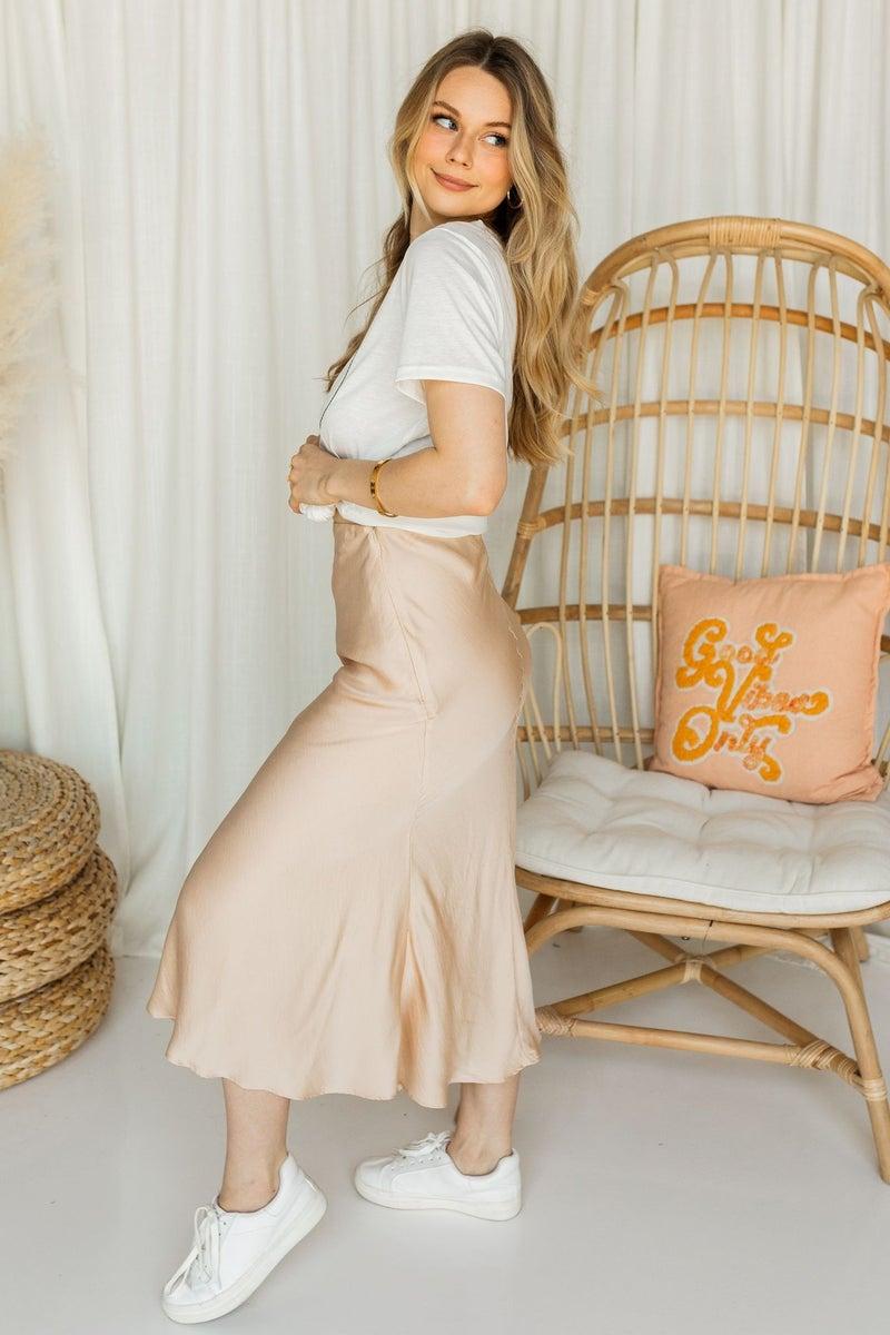 Charm & Flare Midi Skirt