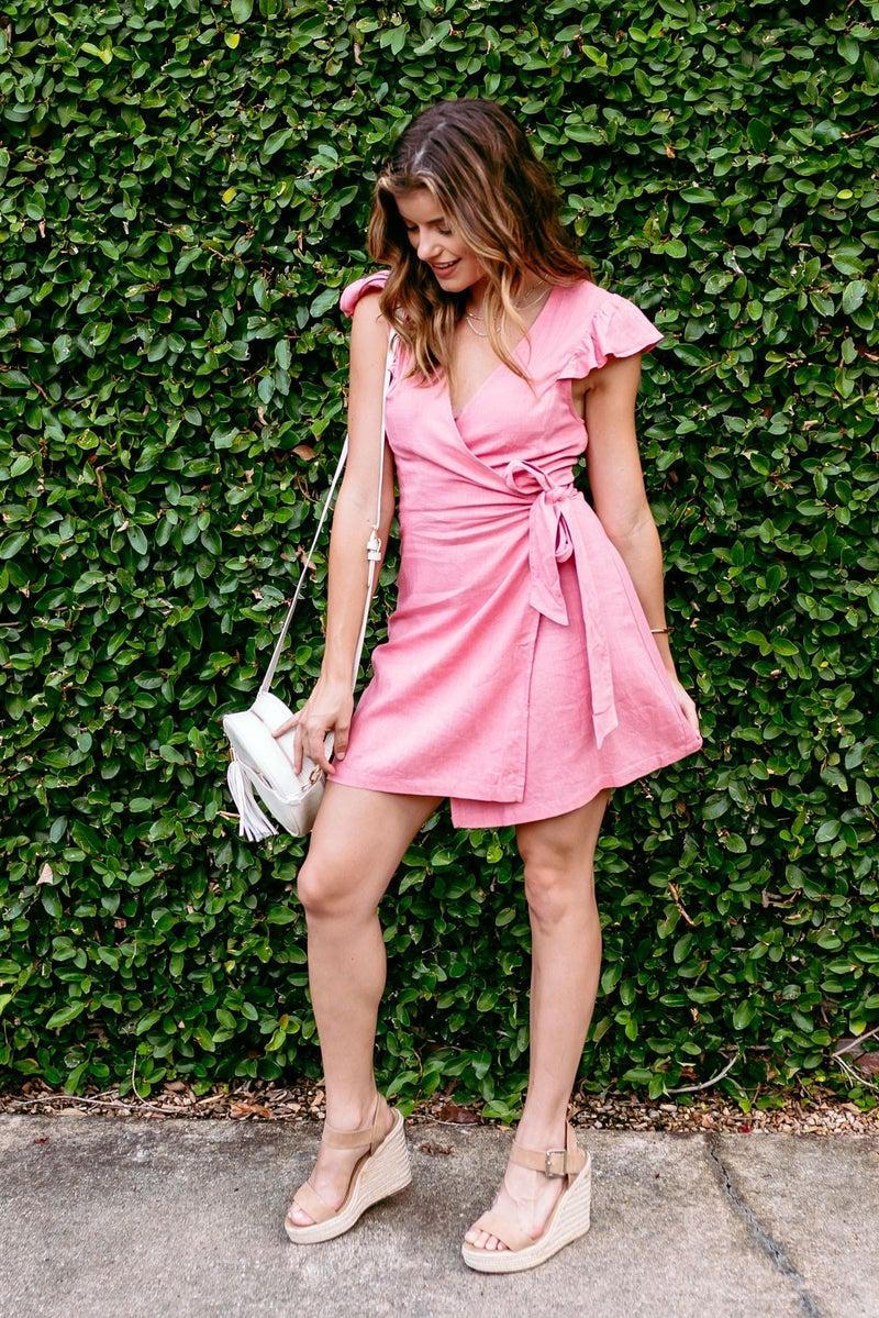 Makes Me Blush Wrap Dress