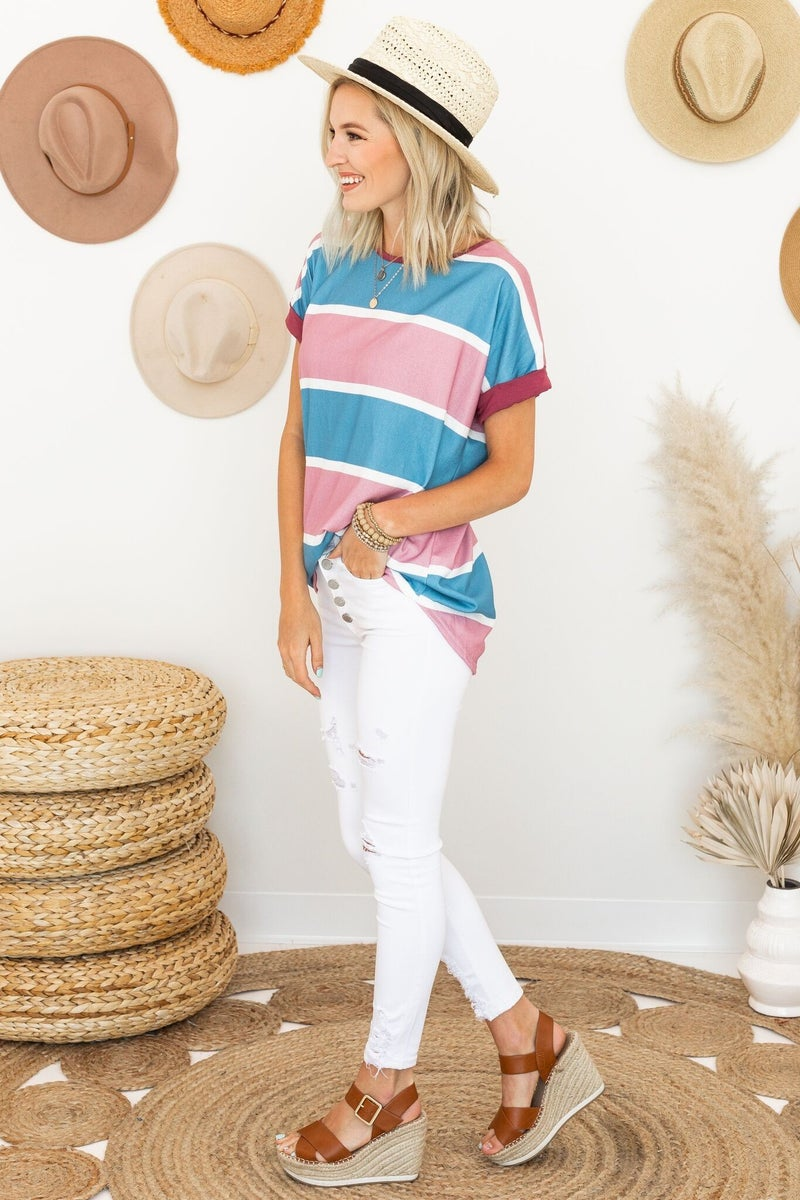 Casual in Stripes Top
