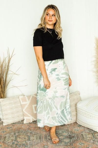 Make a Splash Midi Skirt