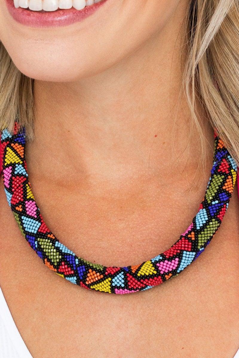 Bead Around Necklace *Final Sale*