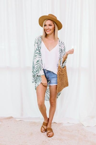 Keep Palm and Carry On Kimono