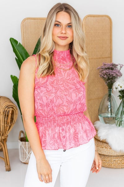 Mingle in Pink Top