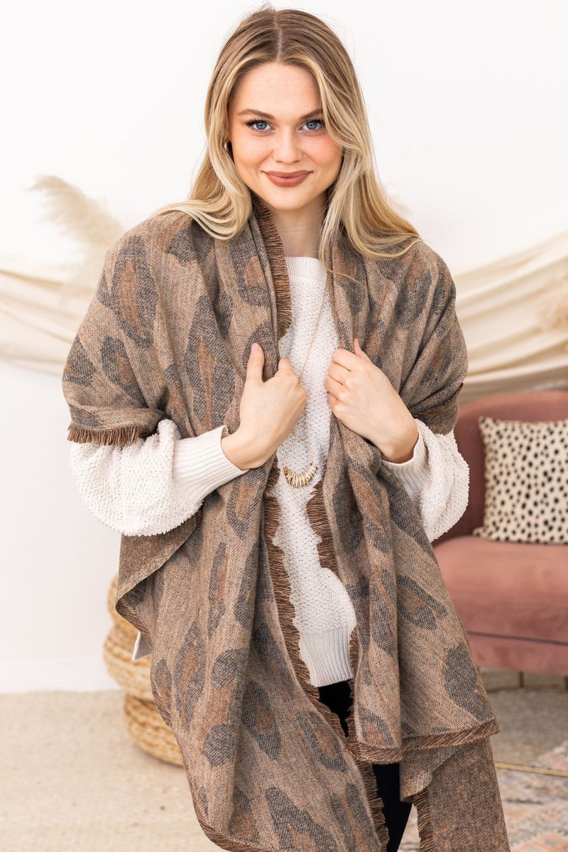 Into It Leopard Scarf