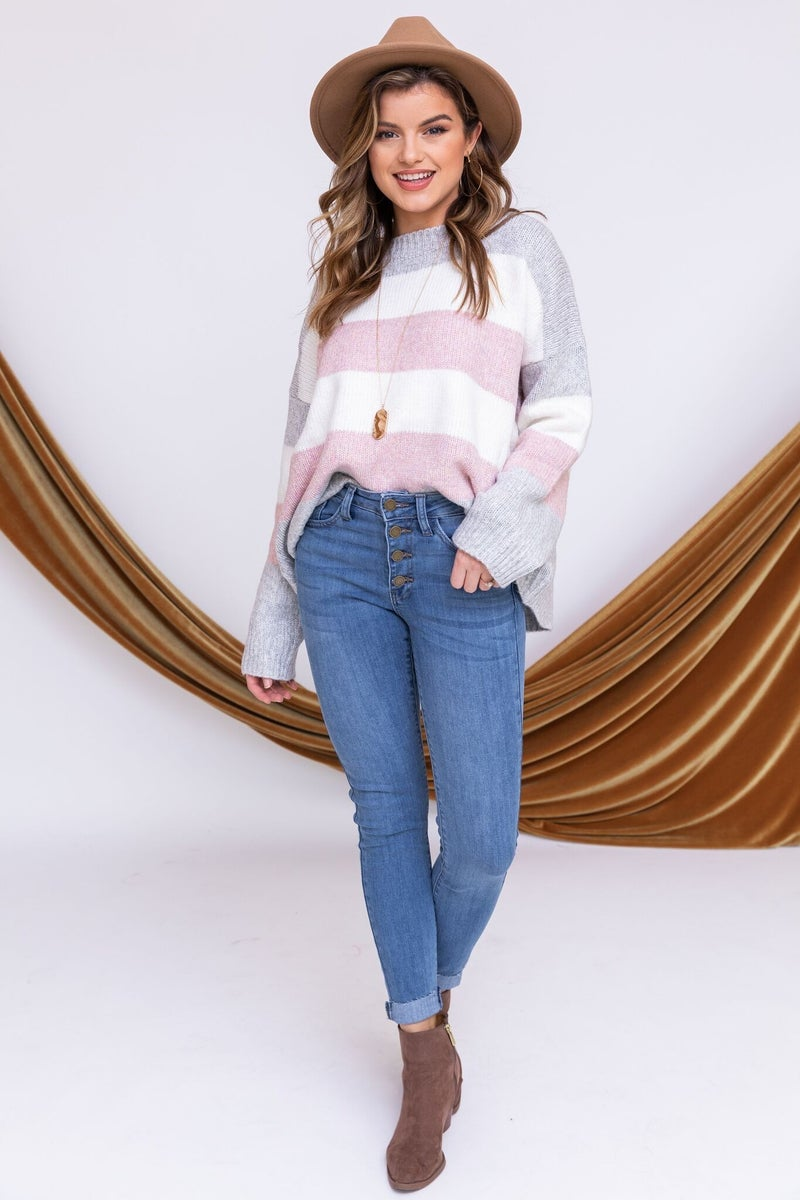 Pass the Pastels Sweater
