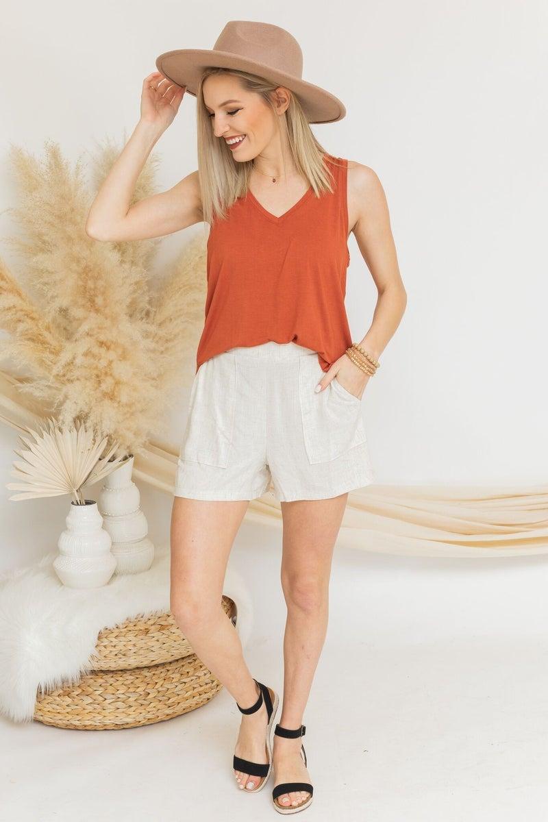 Linen Times Shorts