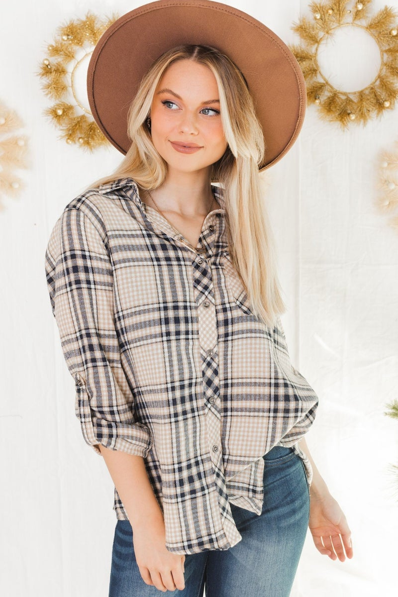 Had A Plaid Day Top