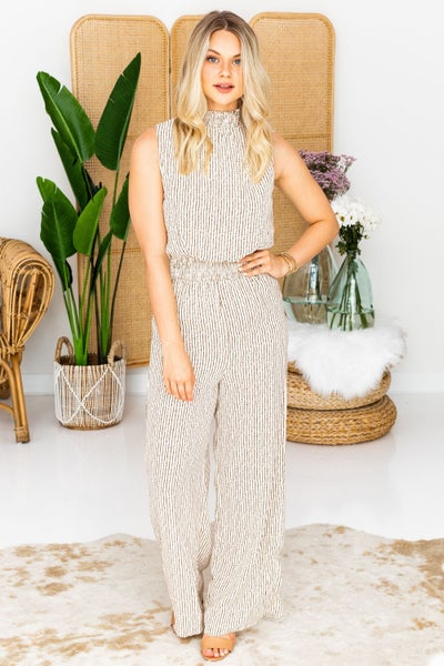 Take A Stand Jumpsuit in Natural