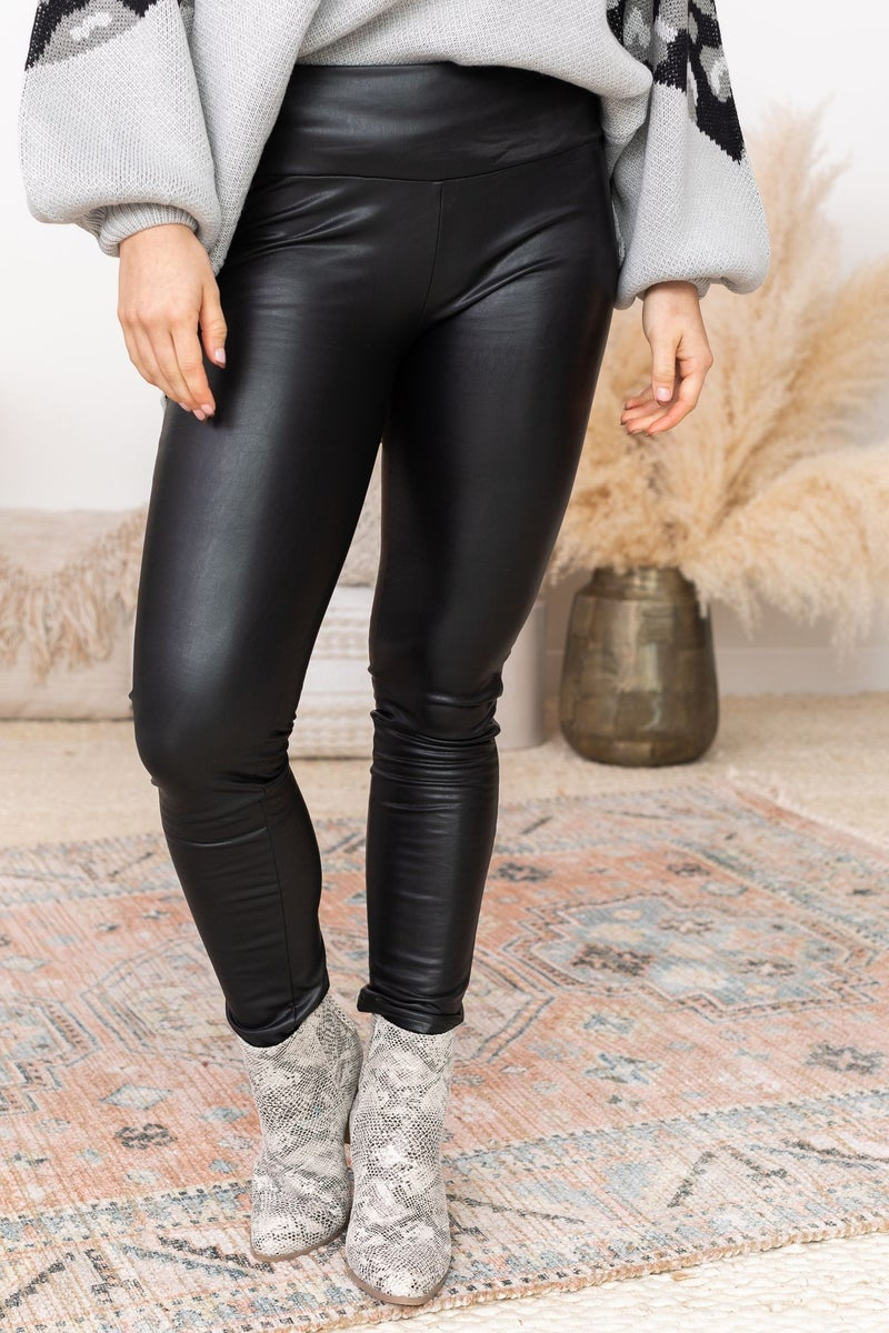 Thunderstruck Leather Leggings