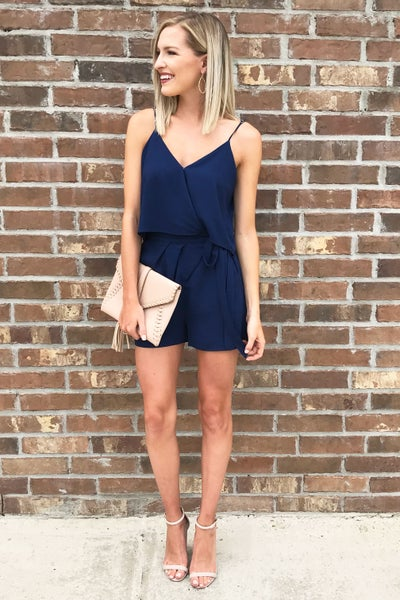 Call Me Navy Romper