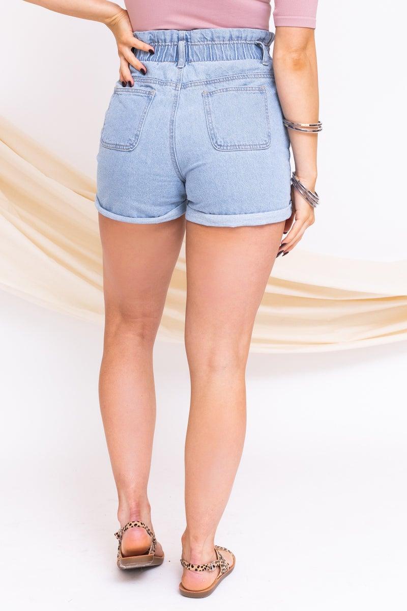 Taking it Back Denim Shorts