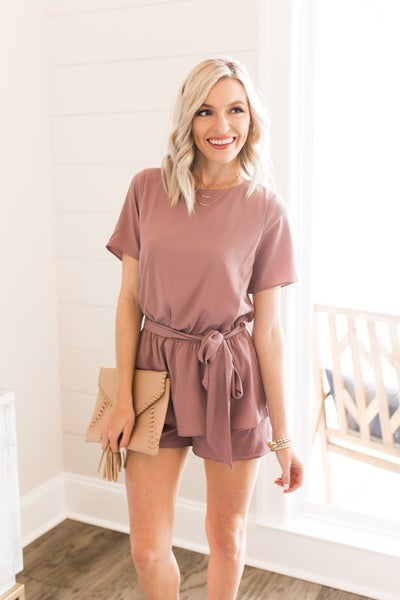 Showered in Mauve Romper