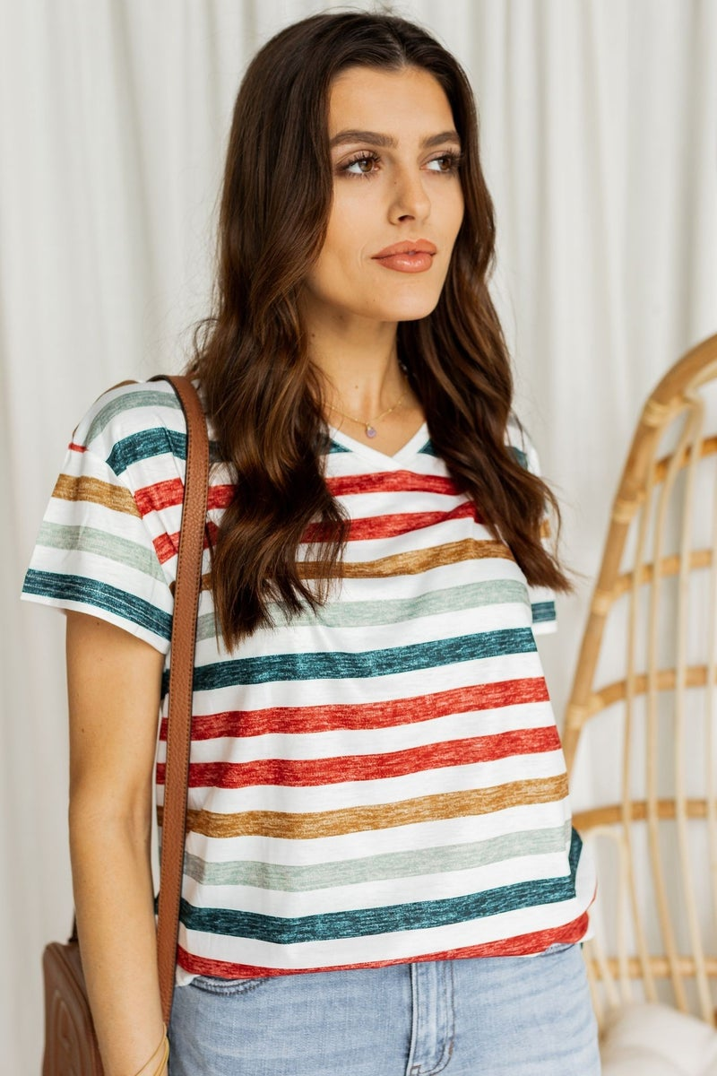 Charmed in Stripes Tee