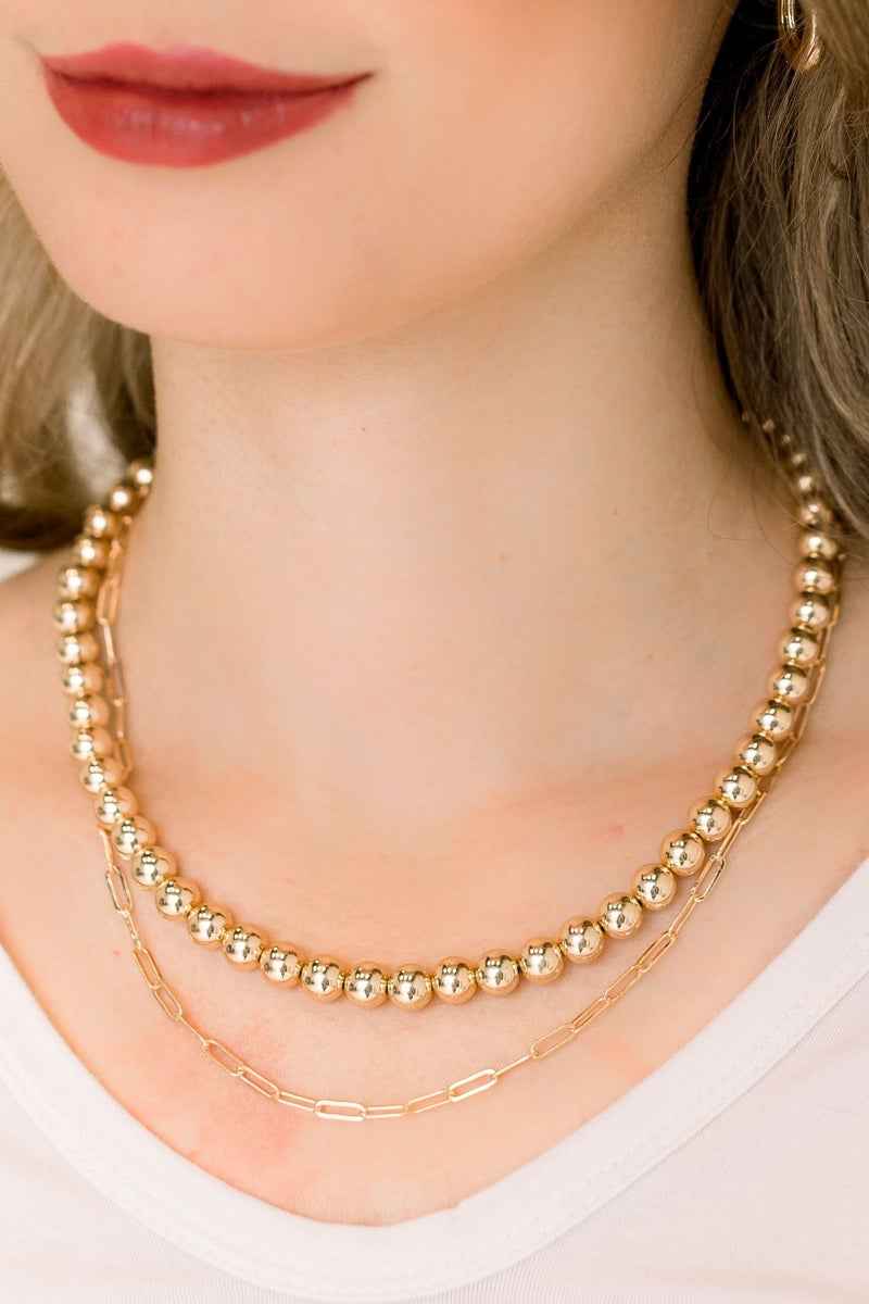 Dripping in Gold Necklace