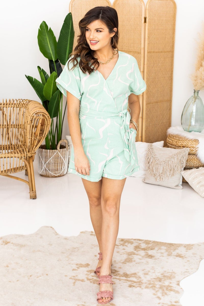 Mint for a Good Time Romper