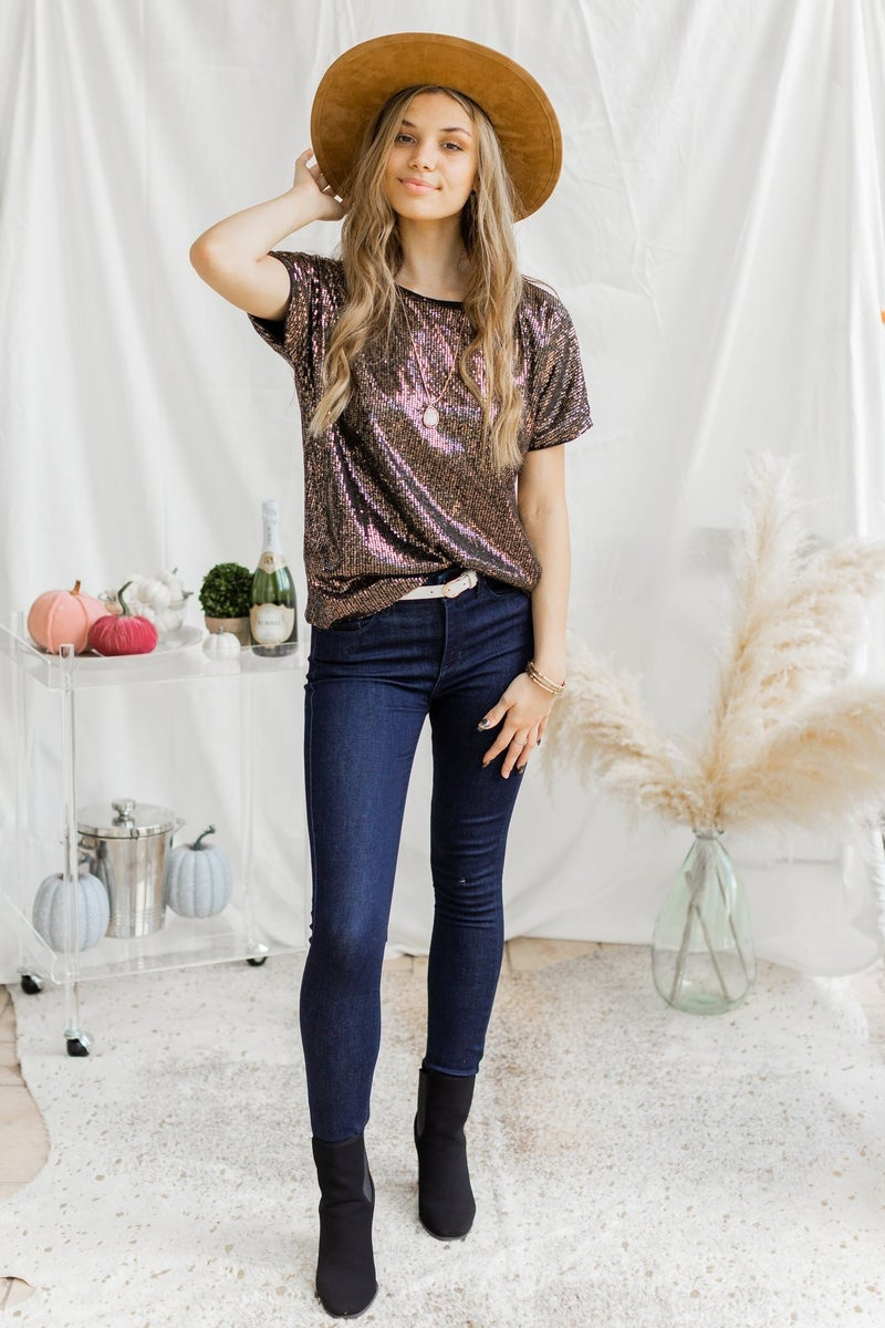 Send in the Sequins Top