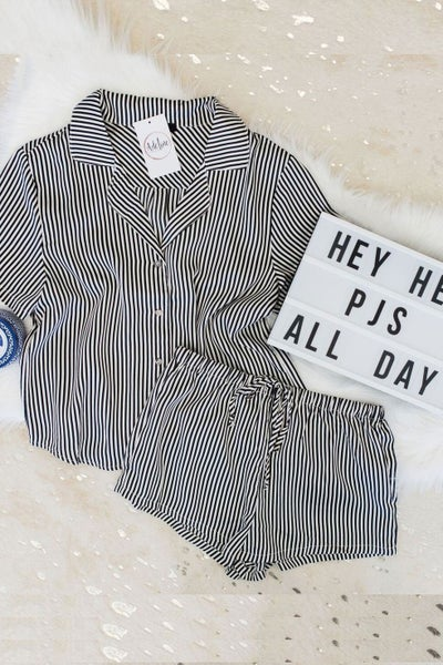 Slumbered in Stripes PJ Set