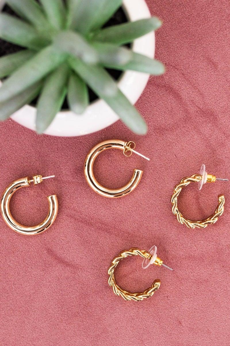 Minimalist Gold Hoop
