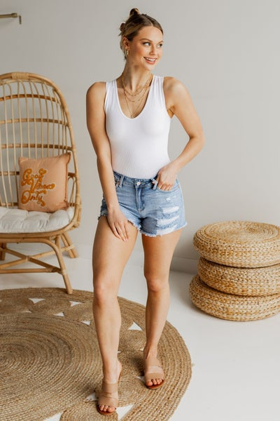 Out With the Sun Denim Shorts