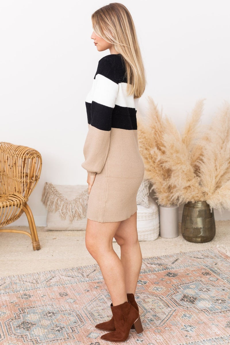 The Time Has Come Sweater Dress