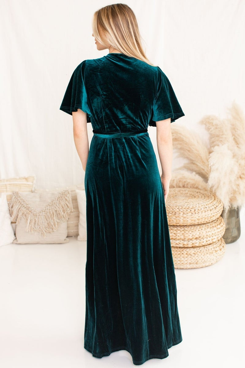 Holiday Wonderland Maxi in Teal