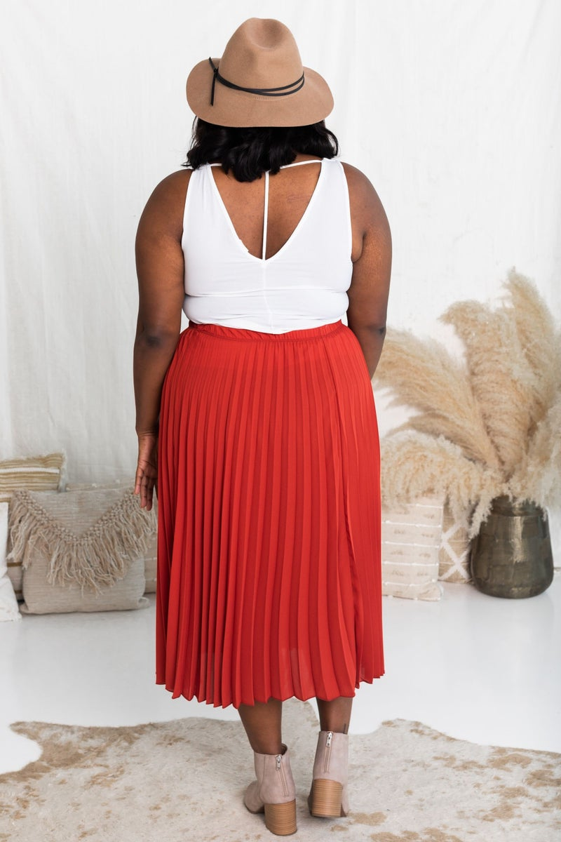 Charming in Pleats Midi Skirt