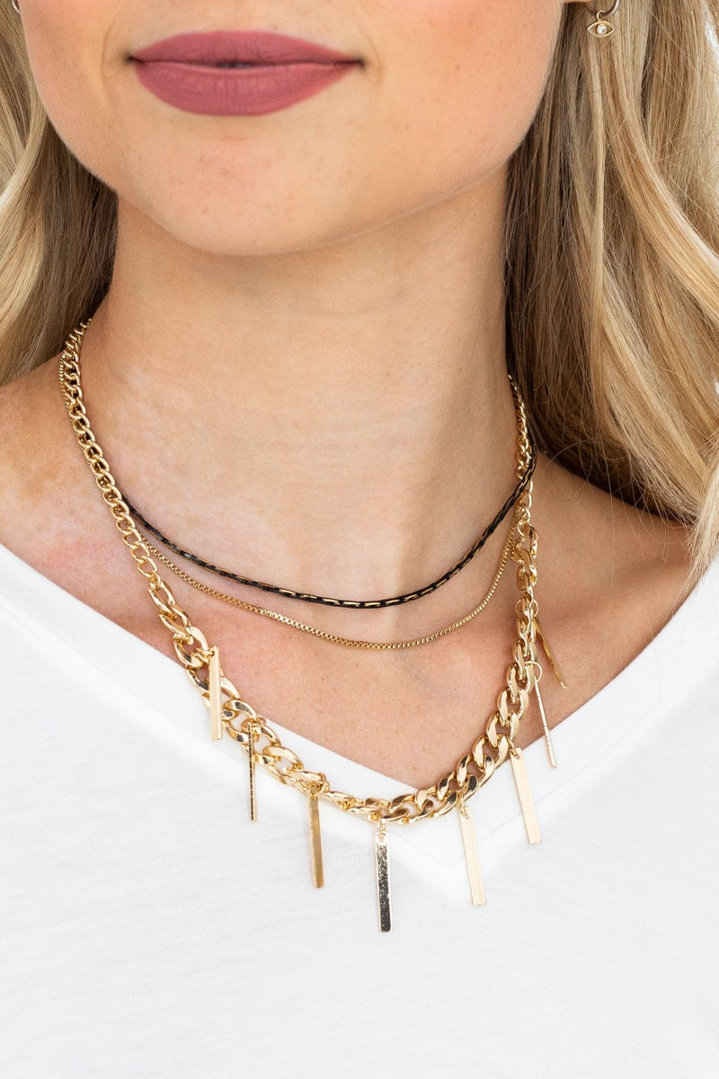 Charming in Layers Necklace *Final Sale*
