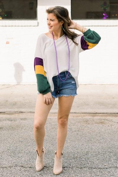 Mardi Gras Mambo Sweater