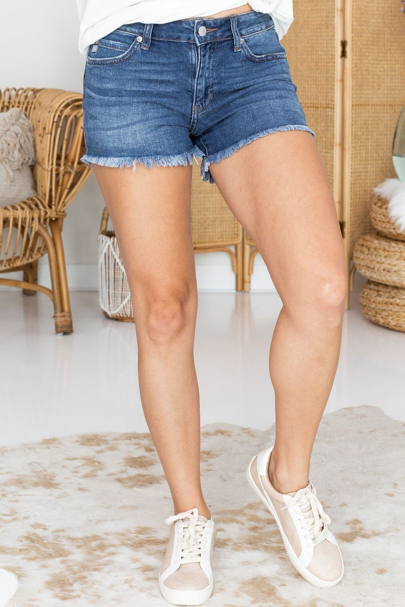 Meet in the Middle Denim Shorts