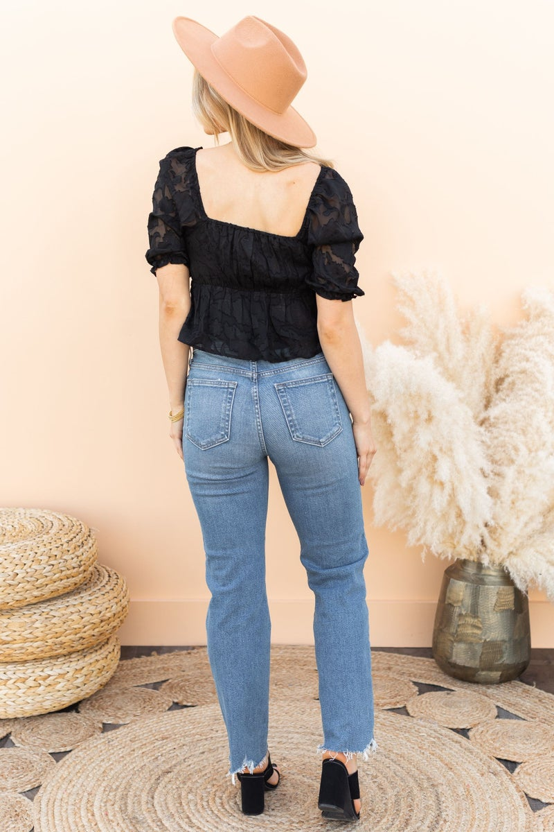 Sweet and Edgy Top