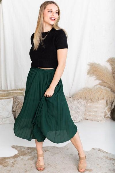 Charming in Pleats Midi Skirt