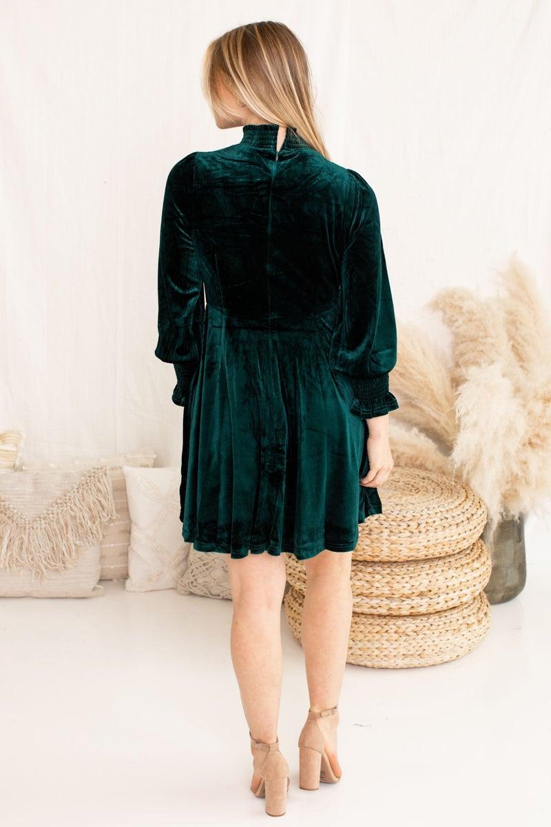 Envy in Velvet Dress