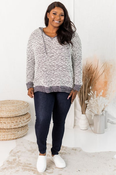Falling for Cozy Pullover in Grey